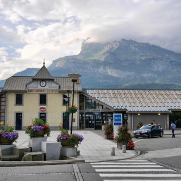 Train Station at Saint Gervais les Bains