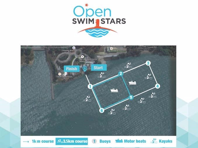 Course Map (taken from Singapore Swim Stars Facebook Page)