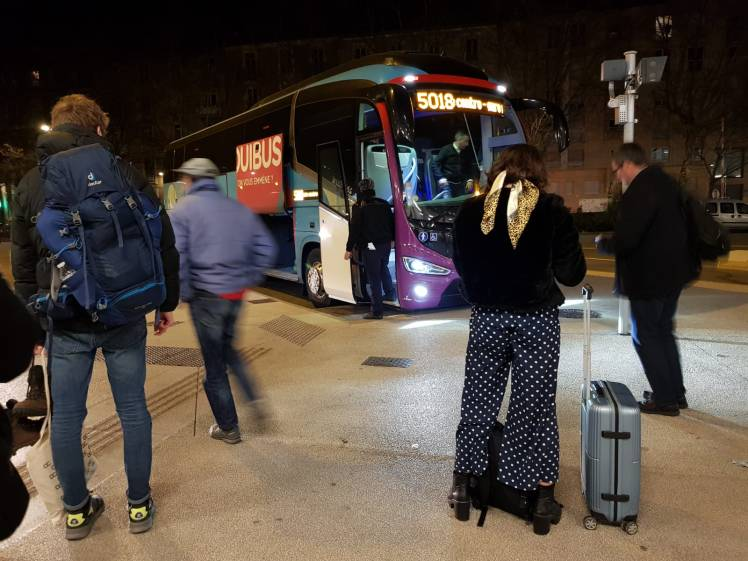 Night Bus from Grenoble to Paris